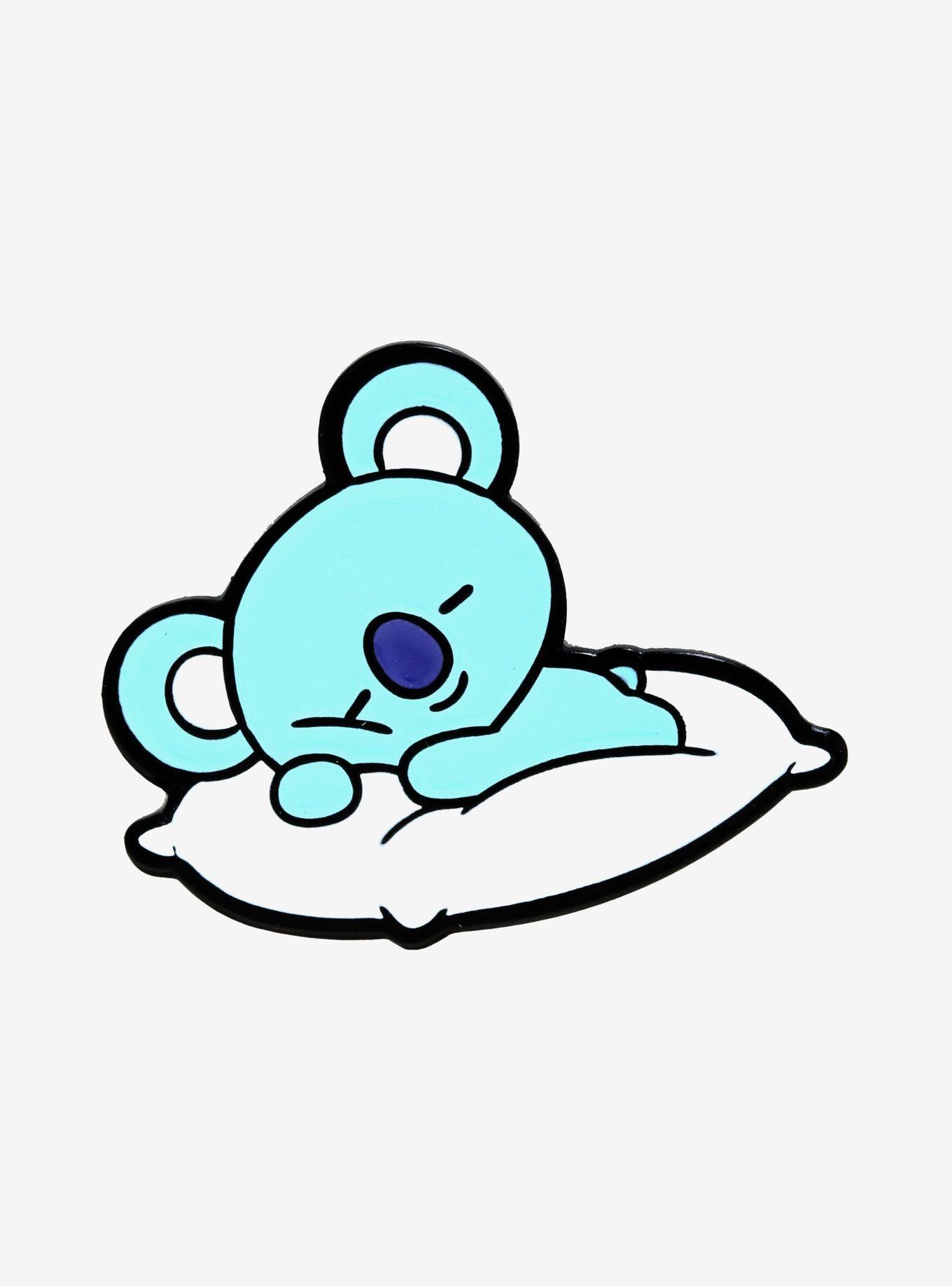 Bt21 Koya Napping Enamel Pin Bts Drawings Cute Wallpapers Cute Cartoon Drawings