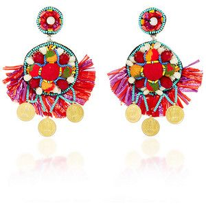 Ranjana Khan     Coin Embellished Drop Earrings