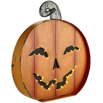 No time to carve a traditional jack-o'-lantern this year? You're in luck, because our pre-lit, smiling pumpkins will make a welcome addition to your Halloween festivities. Place them inside the front door to greet guests, or arrange them as part of a spooky centerpiece. No seed-scooping necessary.