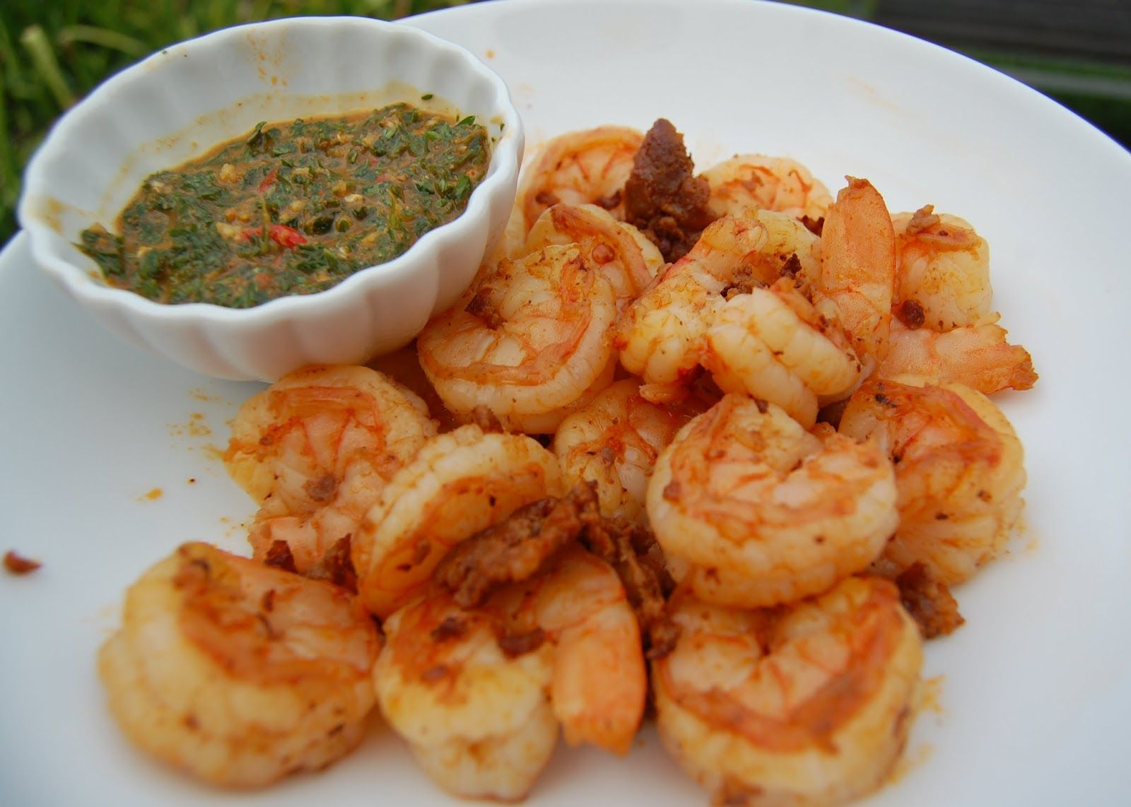Got to try this Chermoula Sauce - Daily*Dishin: Shrimp and Chorizo with Red Pepper Chermoula Sauce #summerfest
