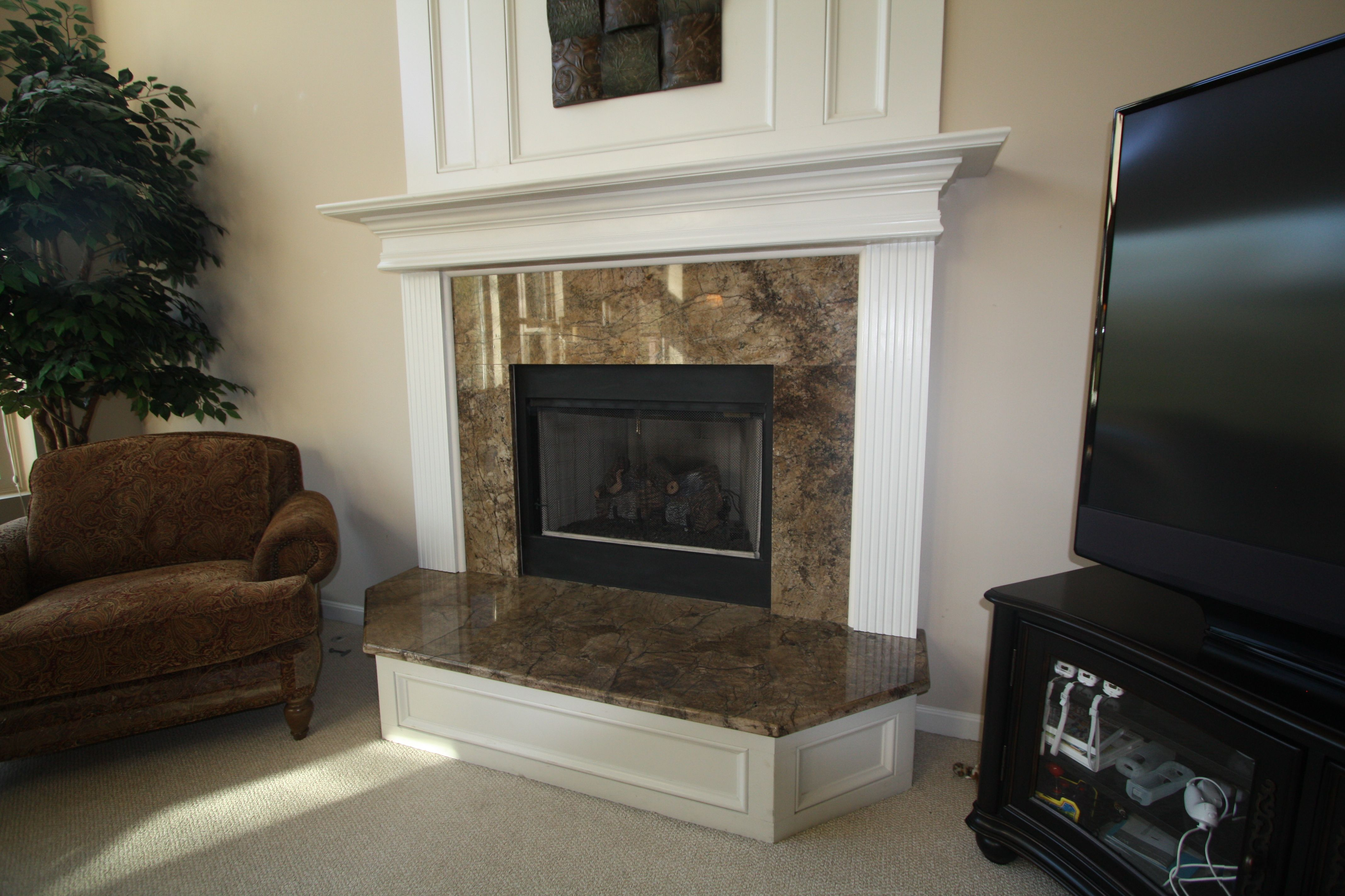 Granite fireplace surround and hearth   Fireplaces ...