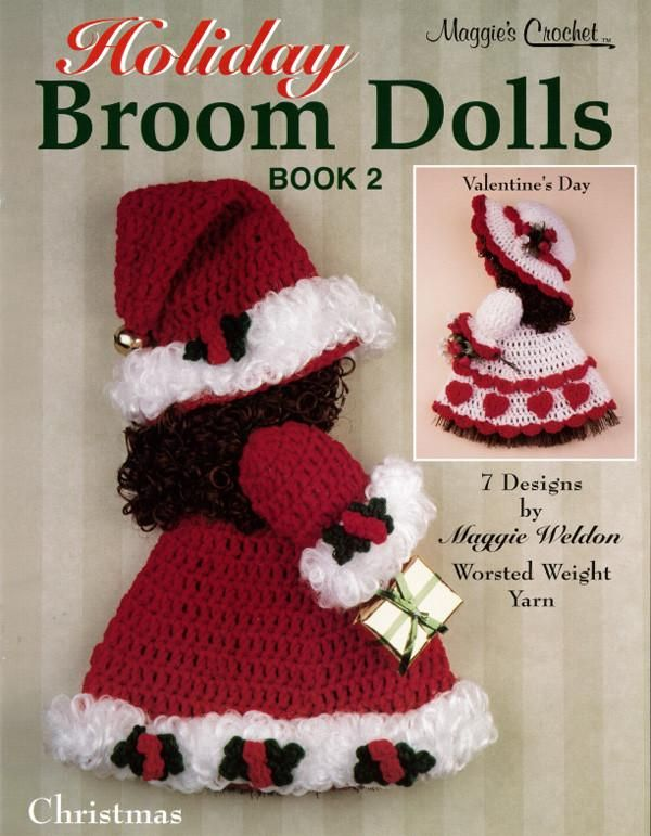 Holiday Broom Dolls 2 Crochet Pattern PDF ONLY #broomdolls