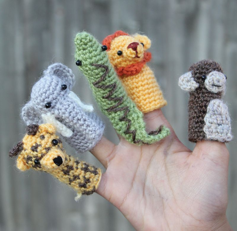 Easy Finger Puppet Knitting Pattern : Zoo finger puppet px g pixels crafts