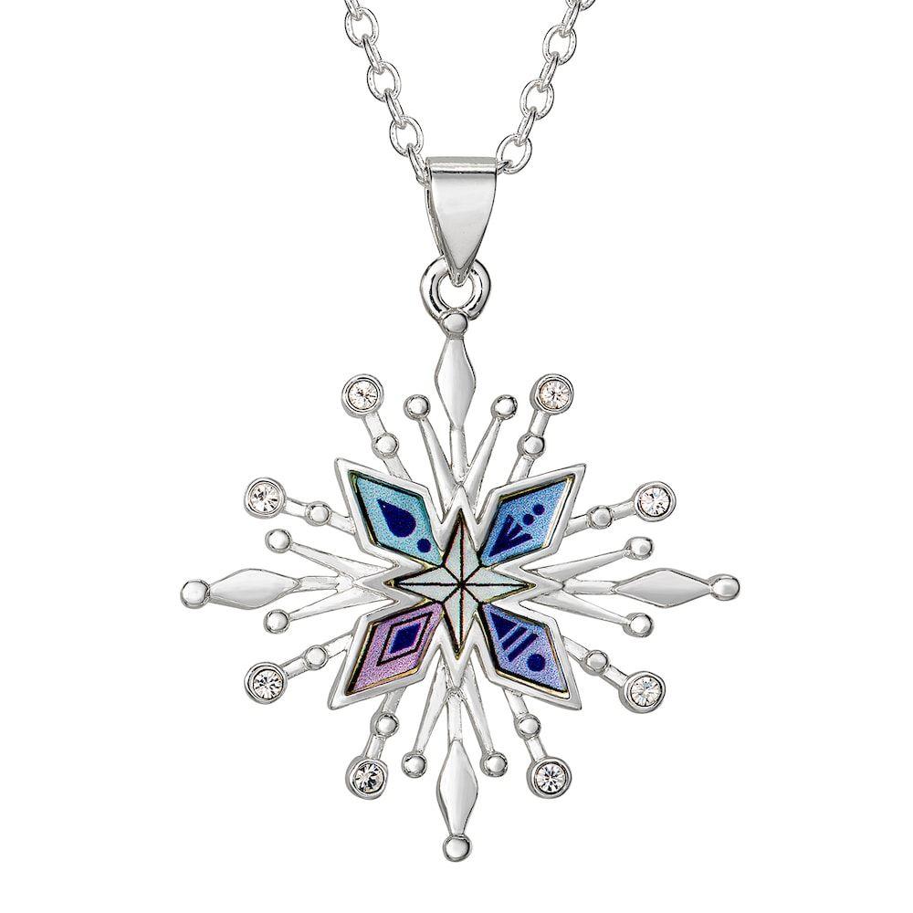 Frozen Necklace With Snow Flake Pendant Frozen Elsa Costume Jewellery