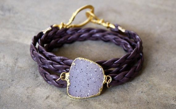 quartz druzy wrap bracelet... arm candy at its finest