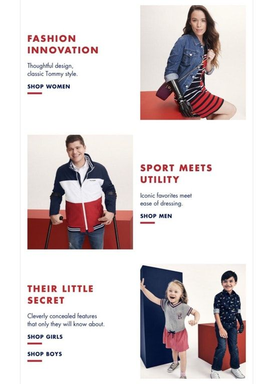 "cd1e304b2 Tommy Hilfiger launches ""Adaptive"" line  -):streetwear"