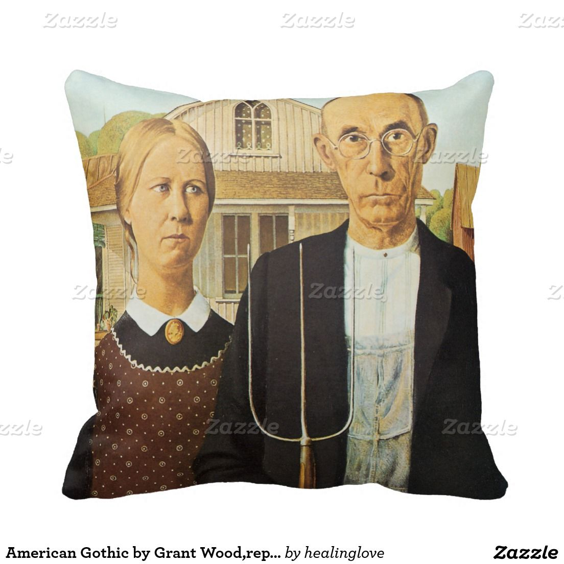 American gothic by grant woodreproduction artvin throw