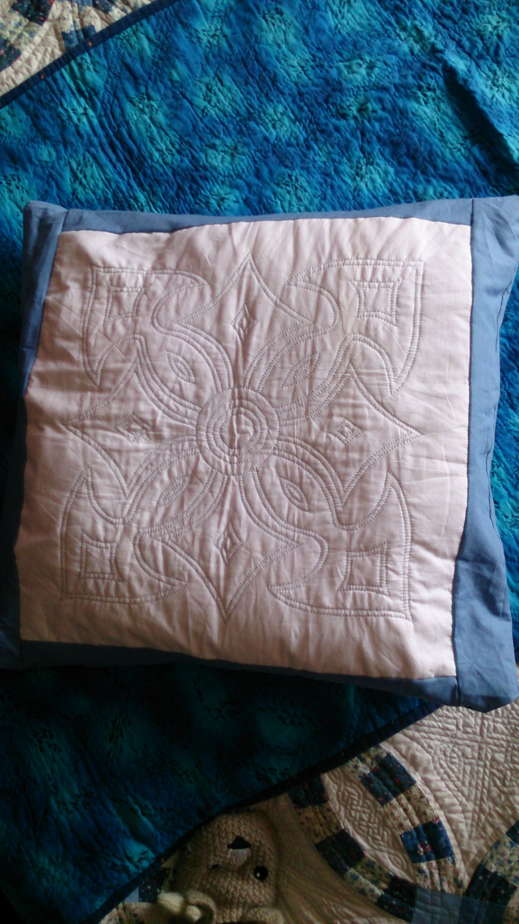 Bought too many cushion pads!Hand quilted 2013 Hand
