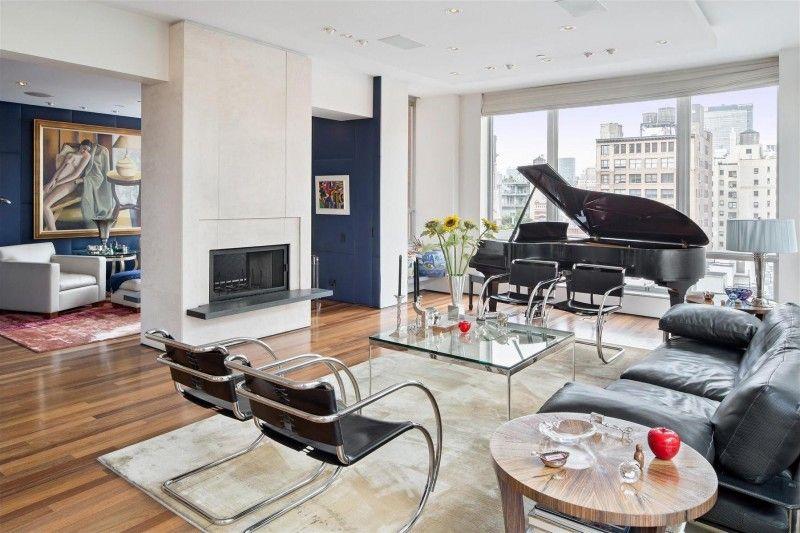 Duplex Penthouse In The Heart Of Chelsea Manhattan  Chelsea Beauteous Luxury Modern Living Room Design Design Decoration