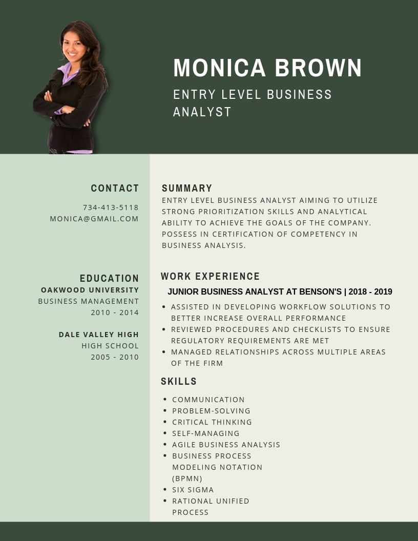 Entry Level Business Analyst Resume Samples Templates Pdf Word 2021 Junior Business Analyst Resumes Bot Business Analyst Resume Business Analyst Resume Summary Examples