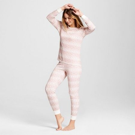 Burt's Bees Women's Organic Cotton Fair Isle Pajamas M : Target ...