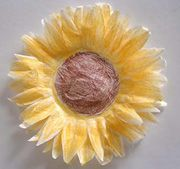 Coffee Filter Sunflowers.  Love, love, love coffee filters.  FYI, you might want to add real sunflower seeds around the edge.  You'd have to see if it made it too heavy.