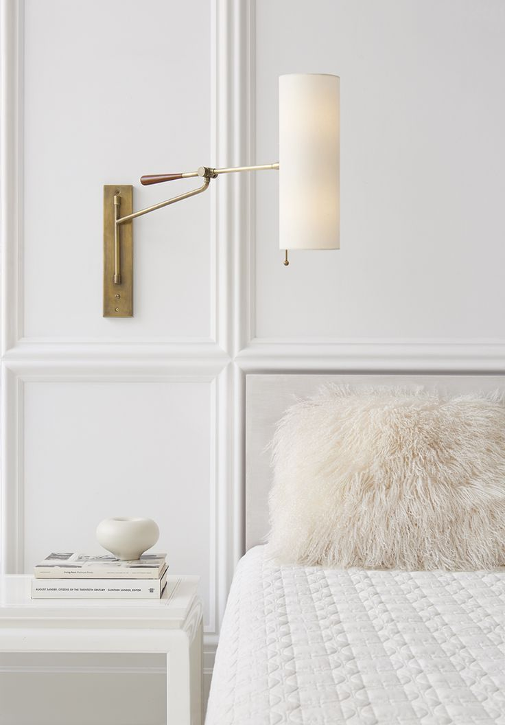 Bedroom Lighting Design: Brass Wall Sconces Circa lighting, Panelling and Bedroom designs