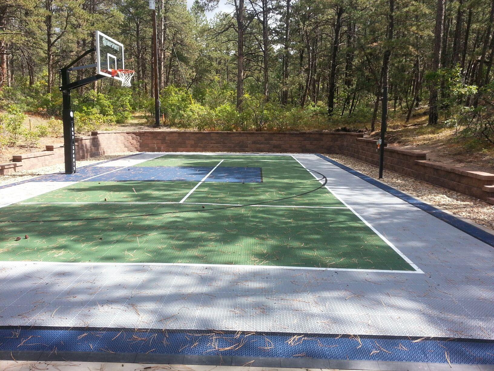 sports courts versalok retaining wall sport court pinterest