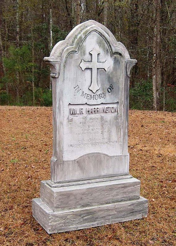 Harrington Halloween Tombstone Cemetery Prop Made to Scale