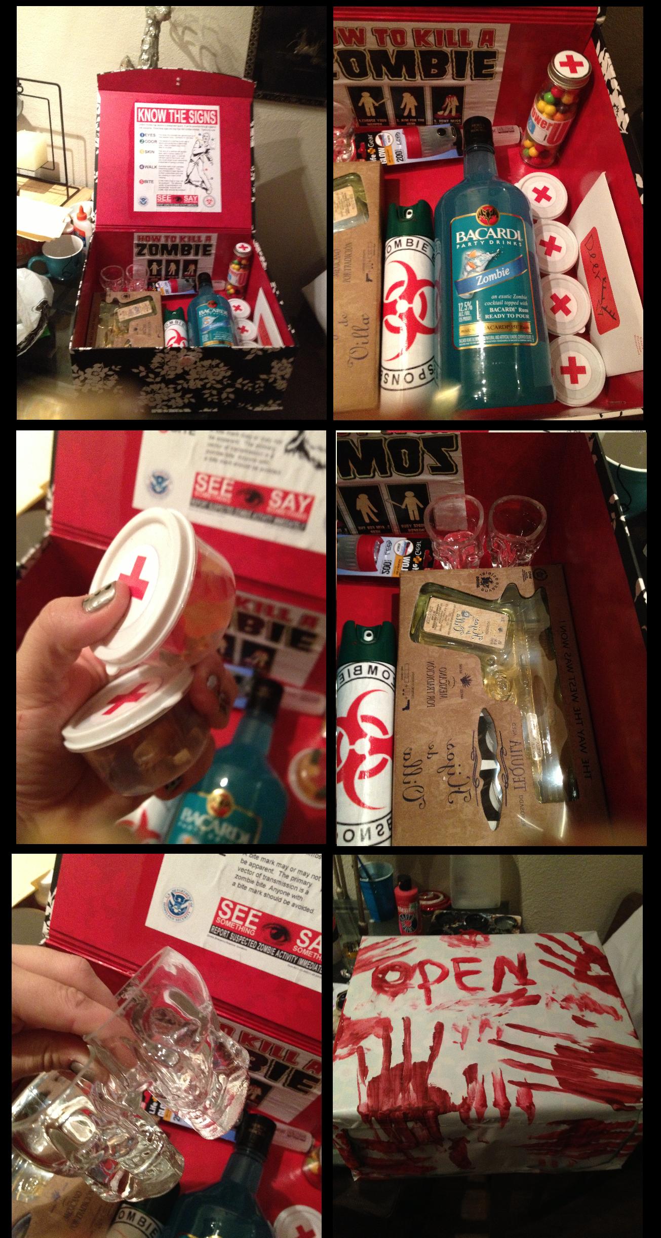 Zombie Valentines day present diy to my boyfriend. by