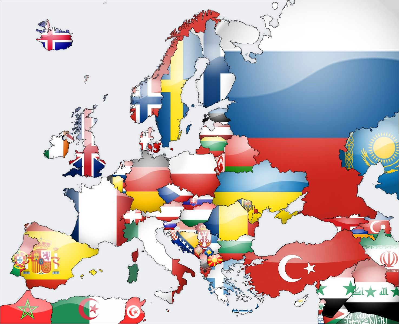 Resultado de imagem para europe flag map