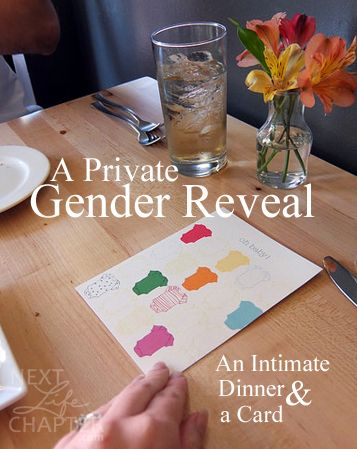 A Private Gender Reveal An Intimate Dinner And A Card