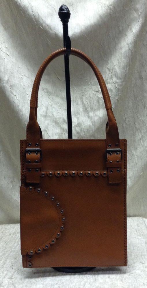 1972e917f12dc AUTHENTIC Yves Saint Laurent Handbag Brown 91622-001998 Made in Italy   YSLYvesSaintLaurent  Handbag