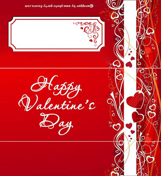 Romantic Red Valentine free printable candy bar wrapper (fits 155 - candy bar wrapper template