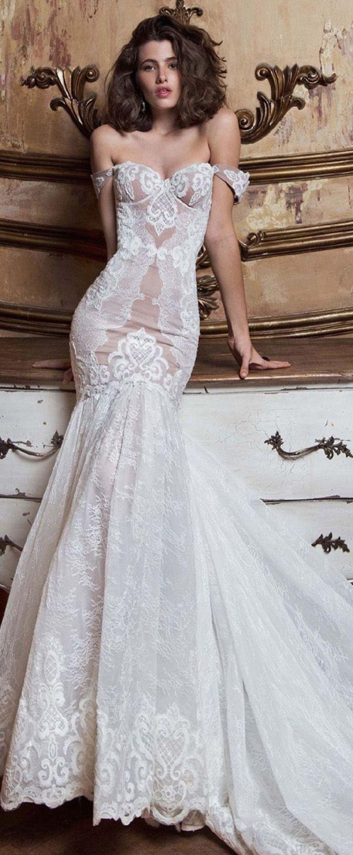 Mermaid dress wedding  Junoesque Tulle Spaghetti Straps Neckline Mermaid Wedding Dress With