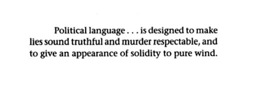 George Orwell, Politics and the English Language (1946)