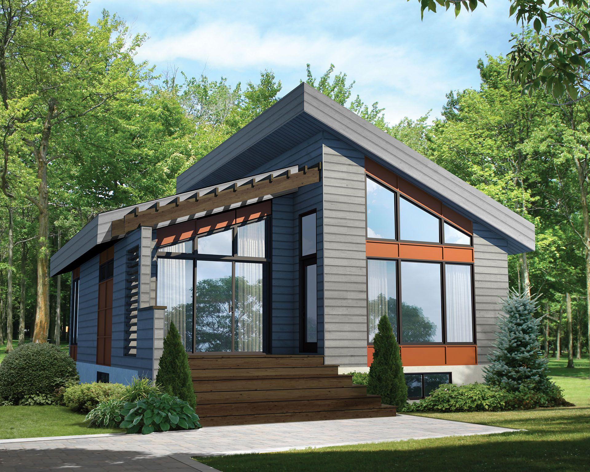 Plan 80774pm Contemporary Vacation Getaway Contemporary House Plans Modern House Plans Small House Plans