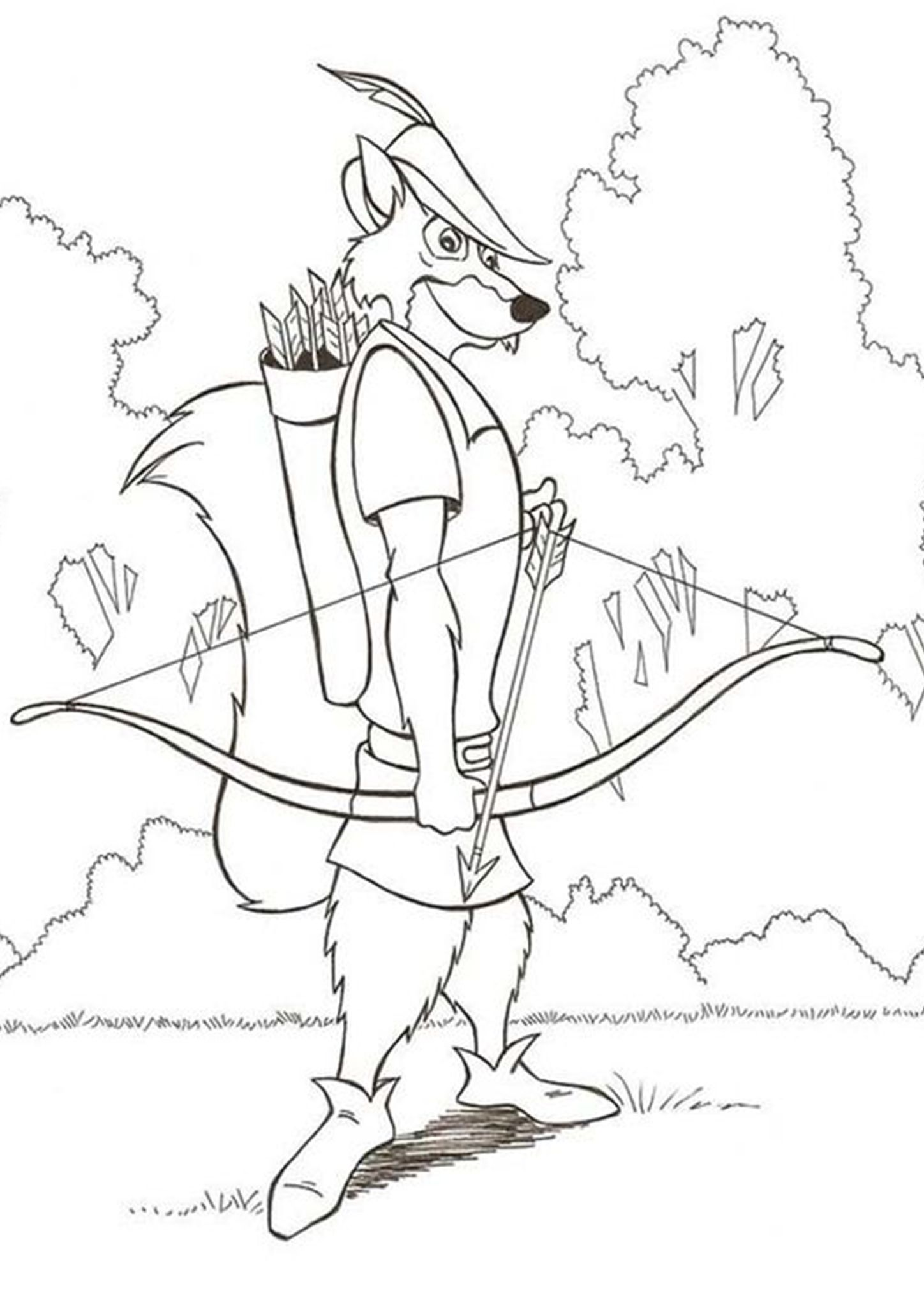 Free Easy To Print Fox Coloring Pages Fox Coloring Page Disney Coloring Pages Dinosaur Coloring Pages [ 2048 x 1448 Pixel ]