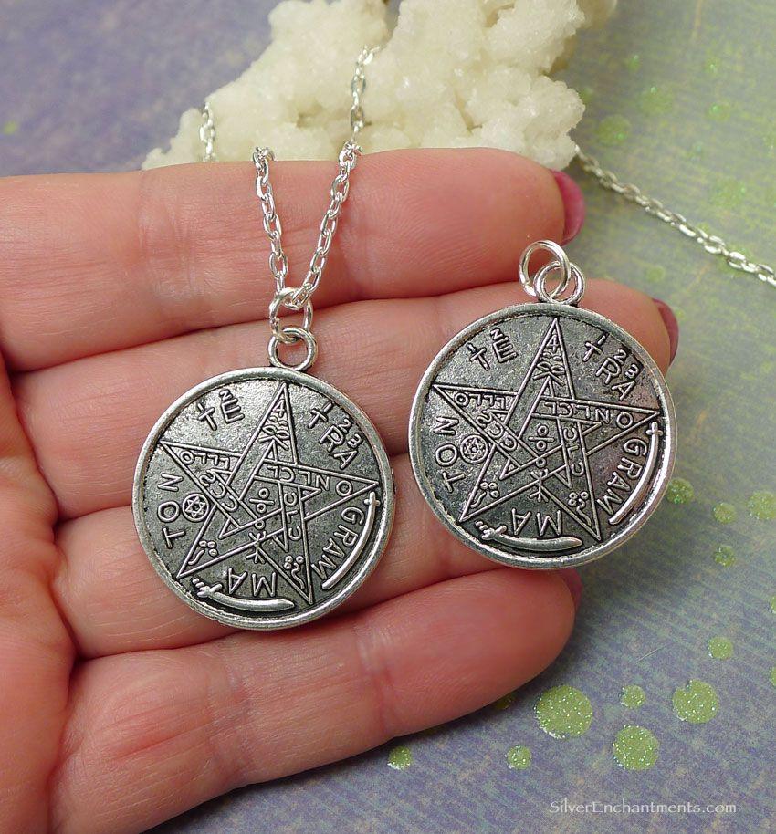 Tetragrammaton necklace everyday silver esoteric pentagram jewelry silver tetragrammaton necklce everyday esoteric pentagram jewelry aloadofball Choice Image