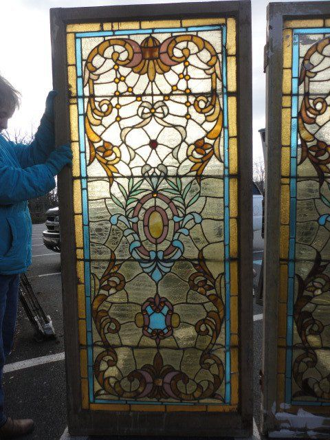 Antique Stained Glass Windows Doors For Sale In