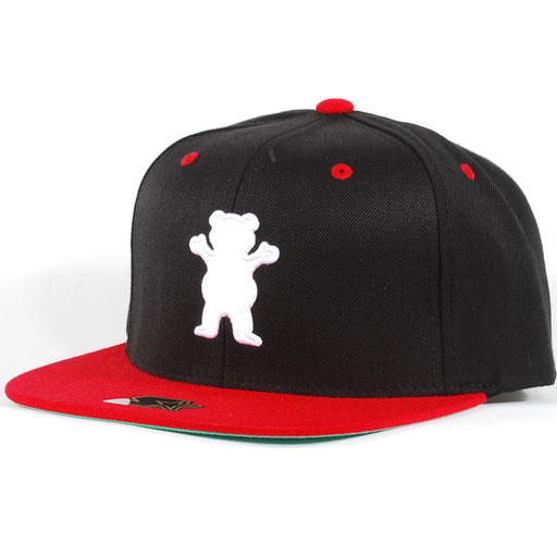 5d84545dc78 Grizzly Bear Logo Starter Snapback Hat (Black Red White)  39.95 ...