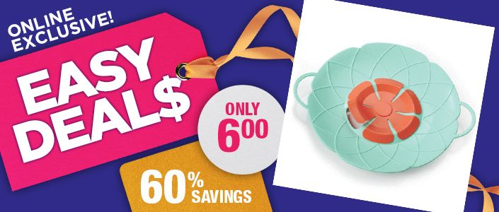 "~TODAY'S EASY DEAL$ ~ Flower Design Splatter Guard reg.  $14.99 Now $6.00 #1106667 AVON EXCLUSIVE   Helps prevent spills and messy overflows. Splatter guard fits over most pots. Lightweight centre ""petals"" allow steam to escape. Silicone. 25 cm diam. (not including handles). Dishwasher- and microwave-safe."