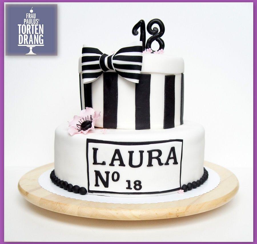 Chanel Torte Zum 18 Geburtstag Rezept Fur Schokobisquit