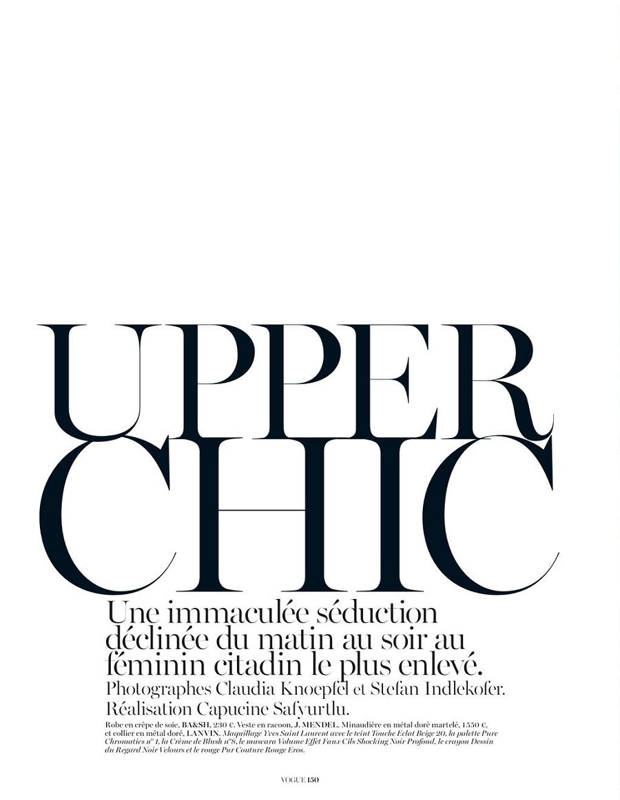 Upper Chic editorial, Vogue Paris February 2013 _