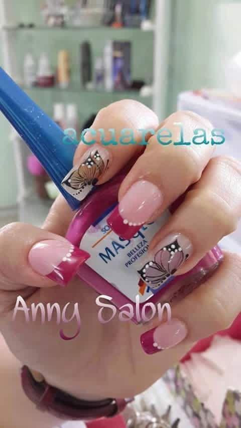 Pin de Leidy Amarillo en Uñas | Modelo de uñas, Diseños de ...