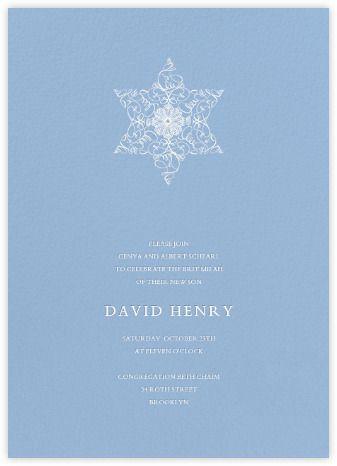 Magen David Invitation Spring Rain Paperless Post Bris