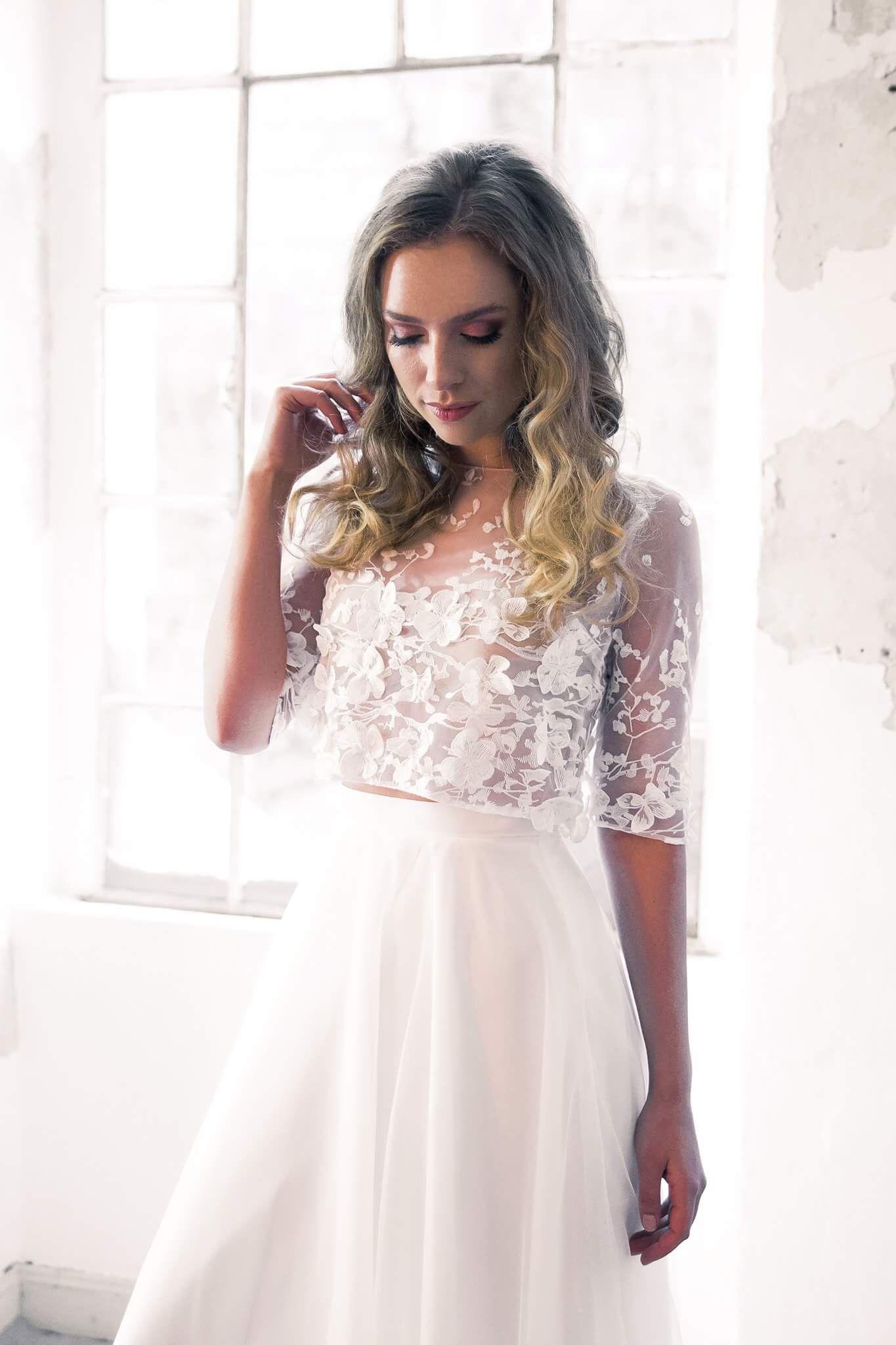 Braut Zweiteiler | Kleid standesamt braut, Brautmode, Braut