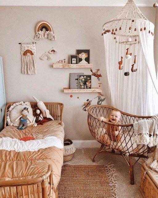 + 22 Boho Kinderzimmer Mädchen Böhmisches Baby 8 #kinderzimmermädchen