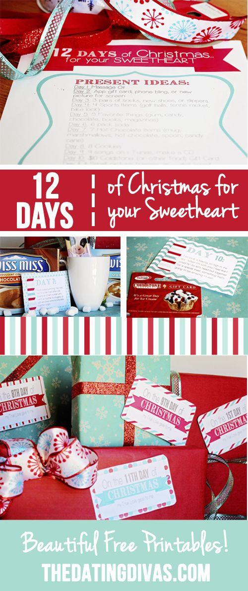 12 Days of Christmas Countdown for your Sweetheart | Christmas ...