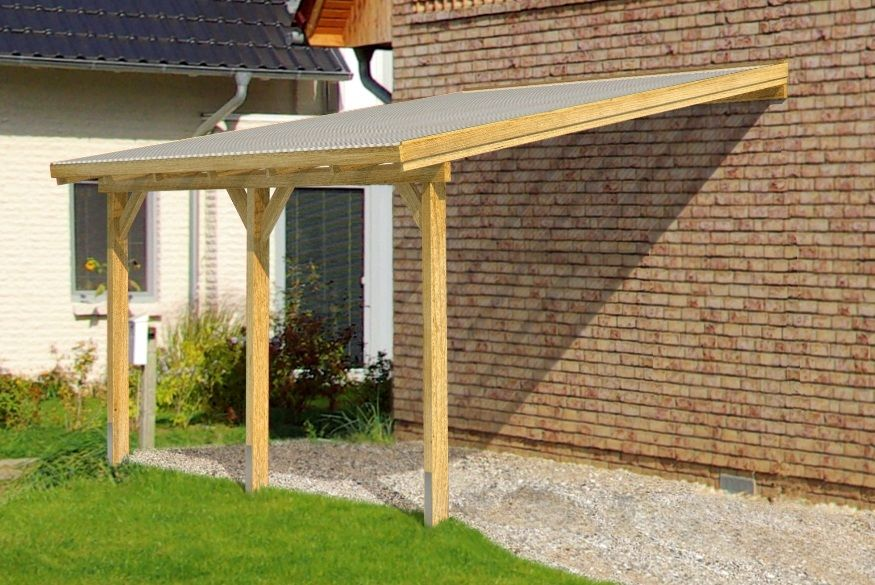 diy timber supported lean to roof kit 6m wide 3m long canopy carport exteriors. Black Bedroom Furniture Sets. Home Design Ideas