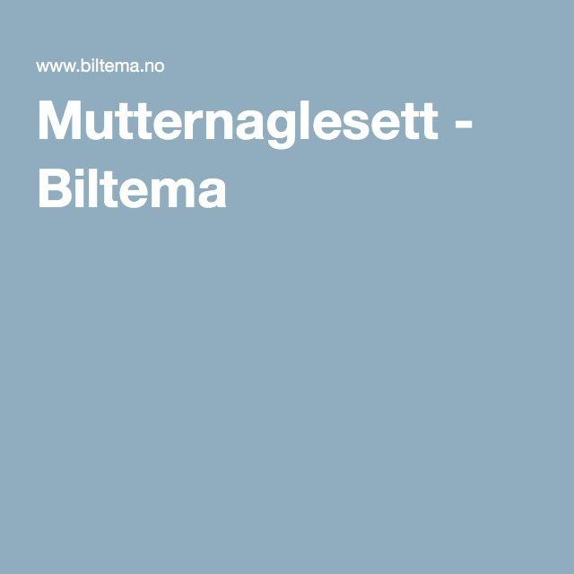 Mutternaglesett - Biltema