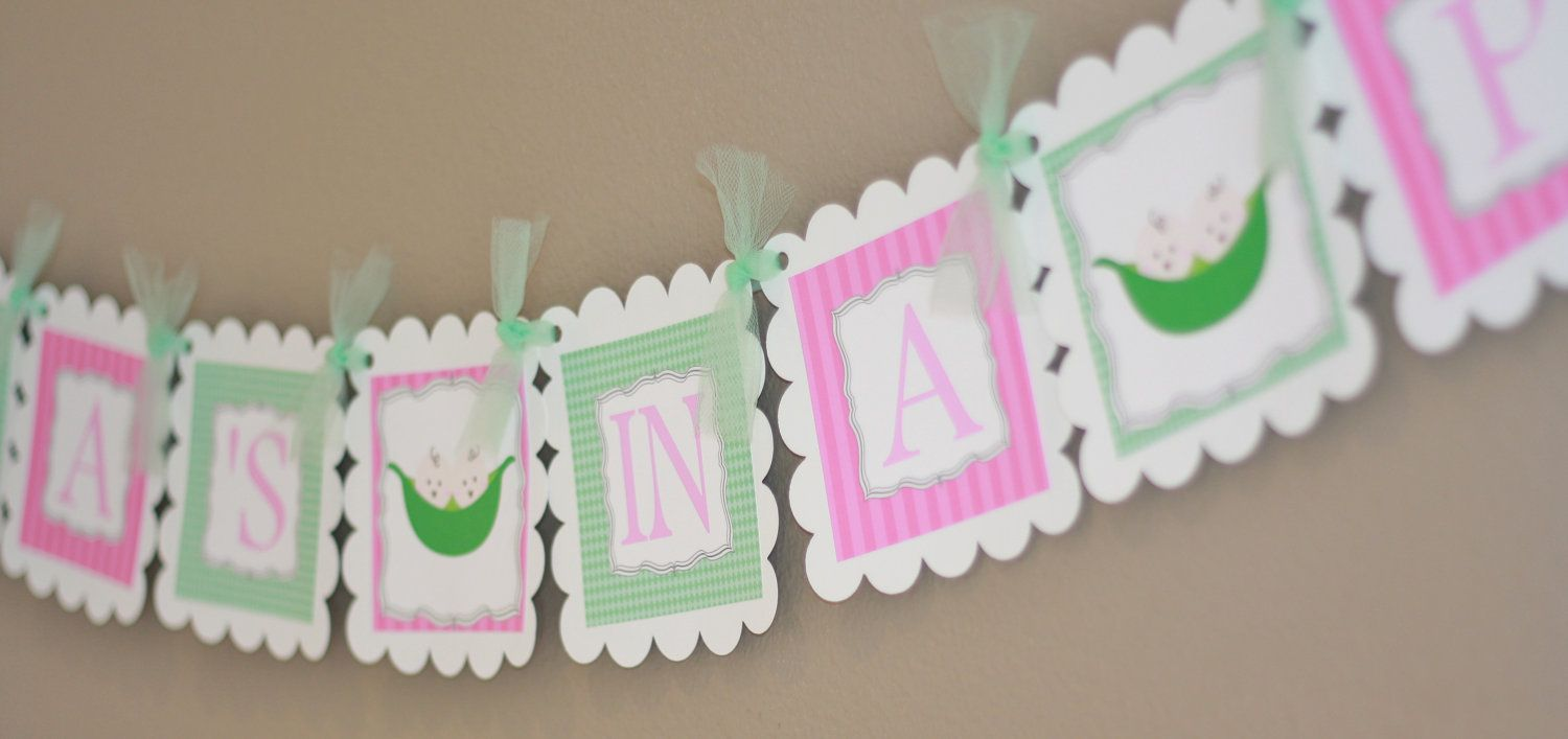 peas decorations in baby cookies decor a pod shower two invitations