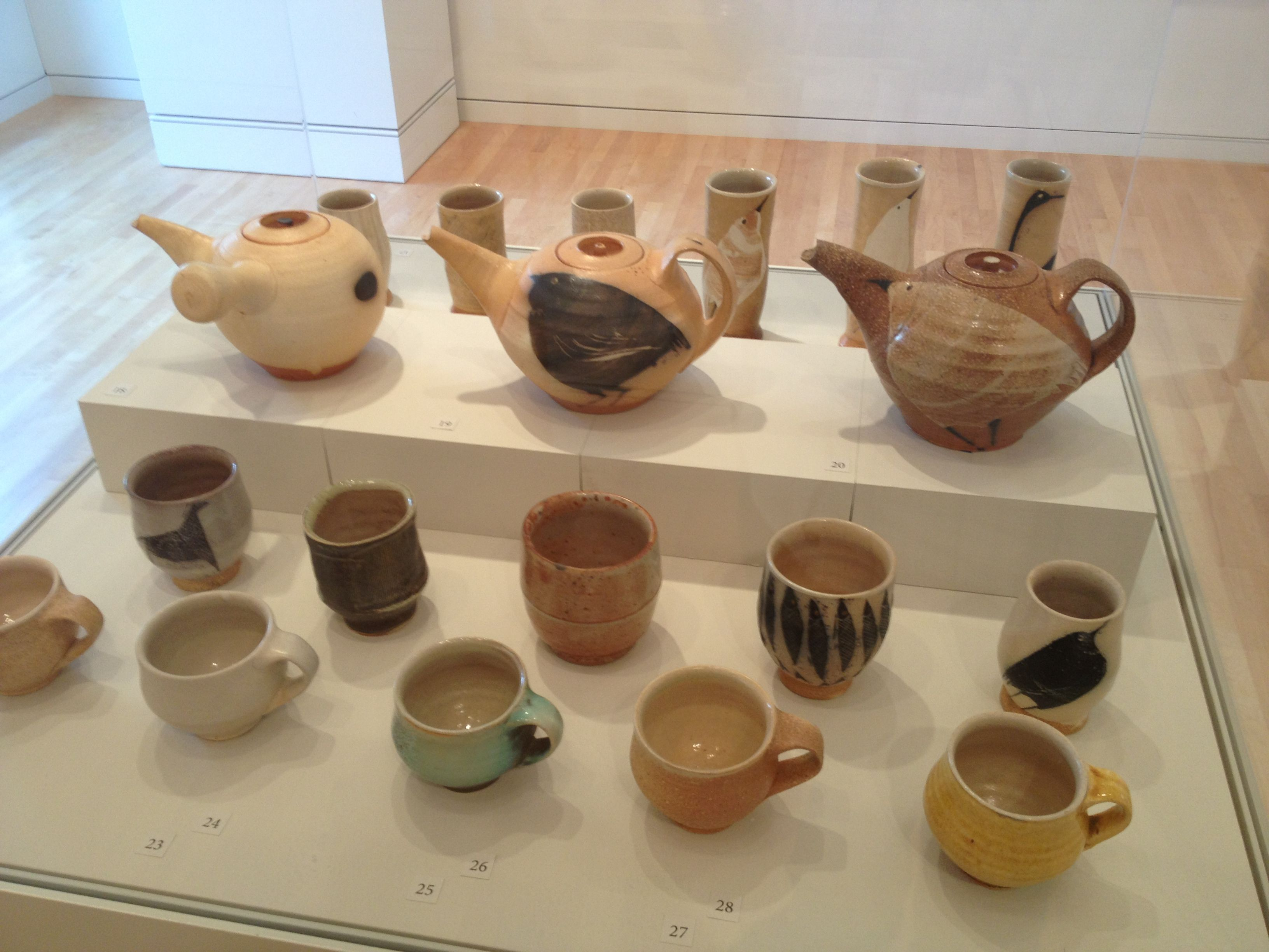 Pots From Pick Of The Kiln Exhibition At The Georgia Museum Of Art Athens Ga 2013 Michael Simon Art Museum Exhibition