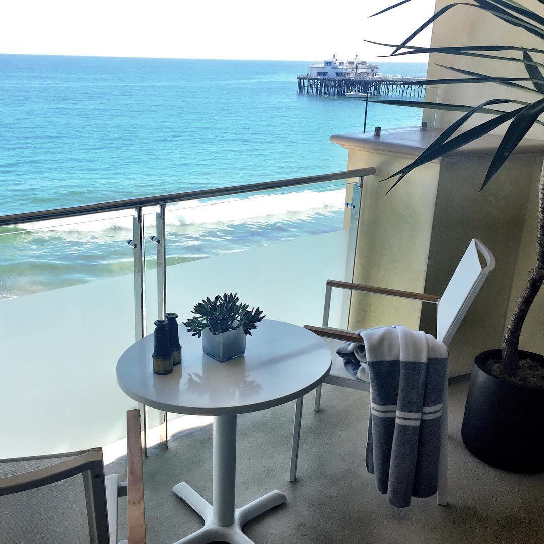 Malibu Beach Inn View From Beachfront Hotel Room Balcony Of The Pier