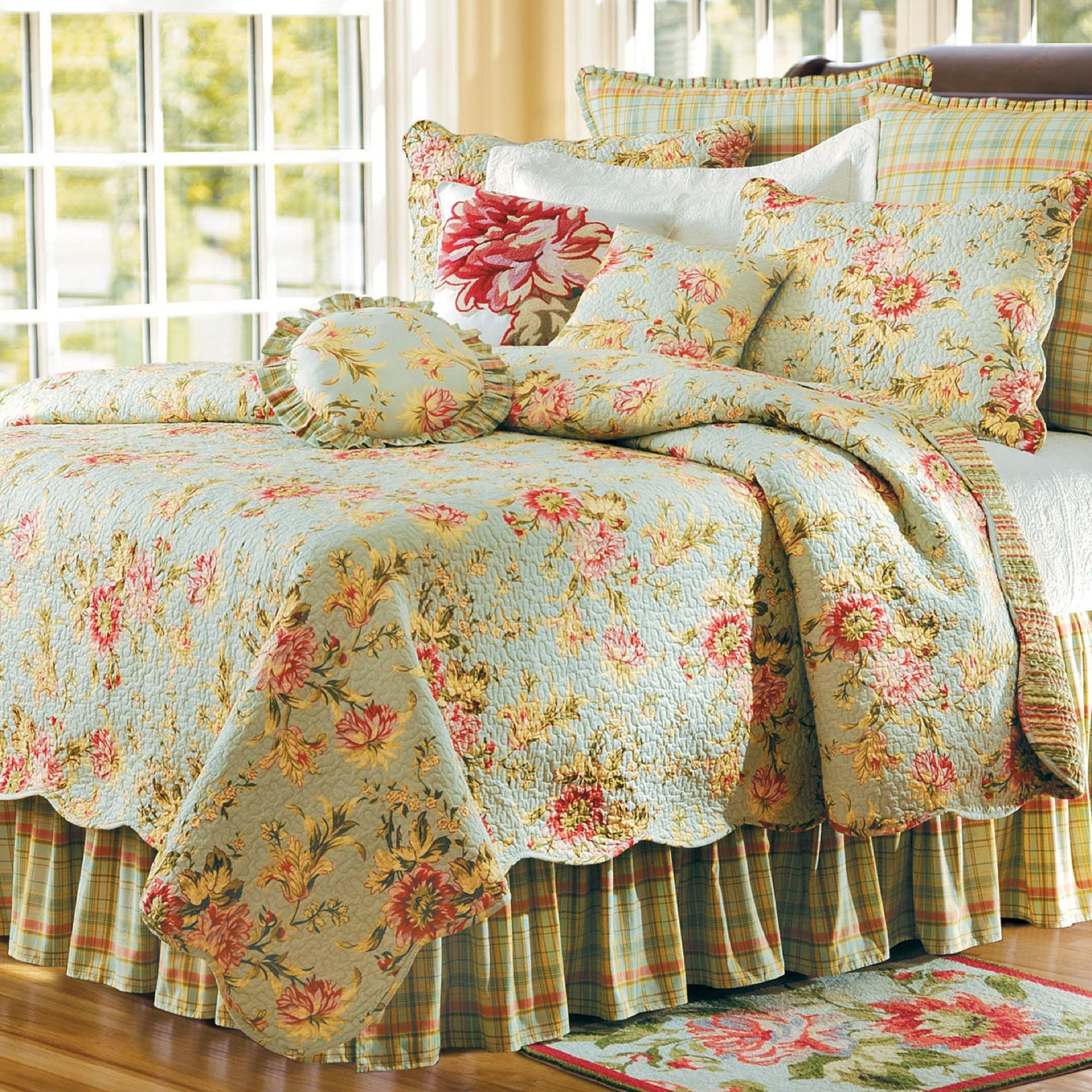 Music Sage Floral Quilt Bedding By April Cornell Chic