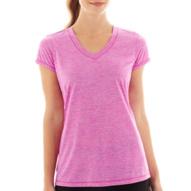 Xersion™+Short-Sleeve+Striped+Melange+Tee +found+at+@JCPenney+