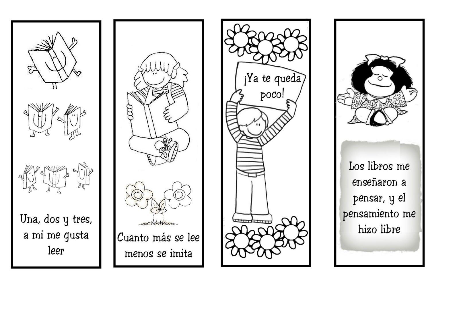 Marcapáginas para colorear   Marcapáginas, Colorear y Lectura
