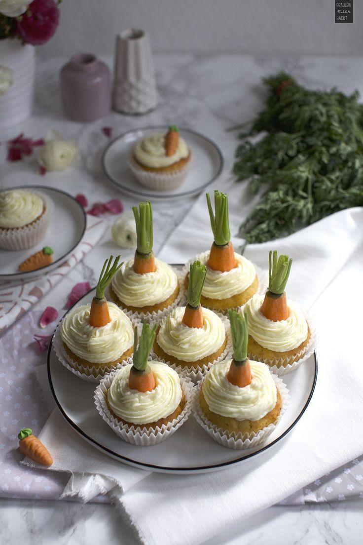 Rübli Cupcakes mit Frischkäse-Frosting - Fräulein Meer backt