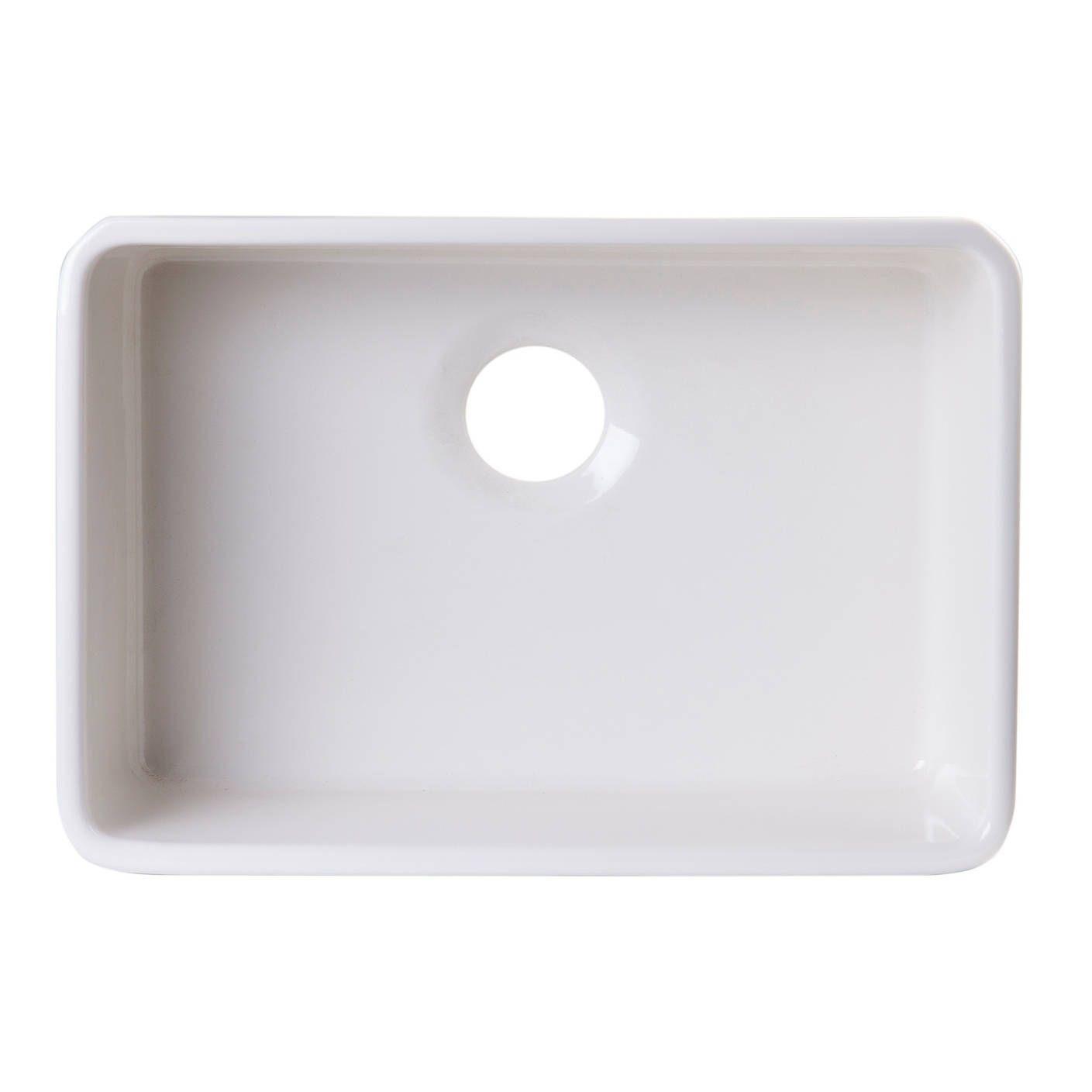 Alfi brand ABUM inch Biscuit Single Bowl Fireclay Undermount