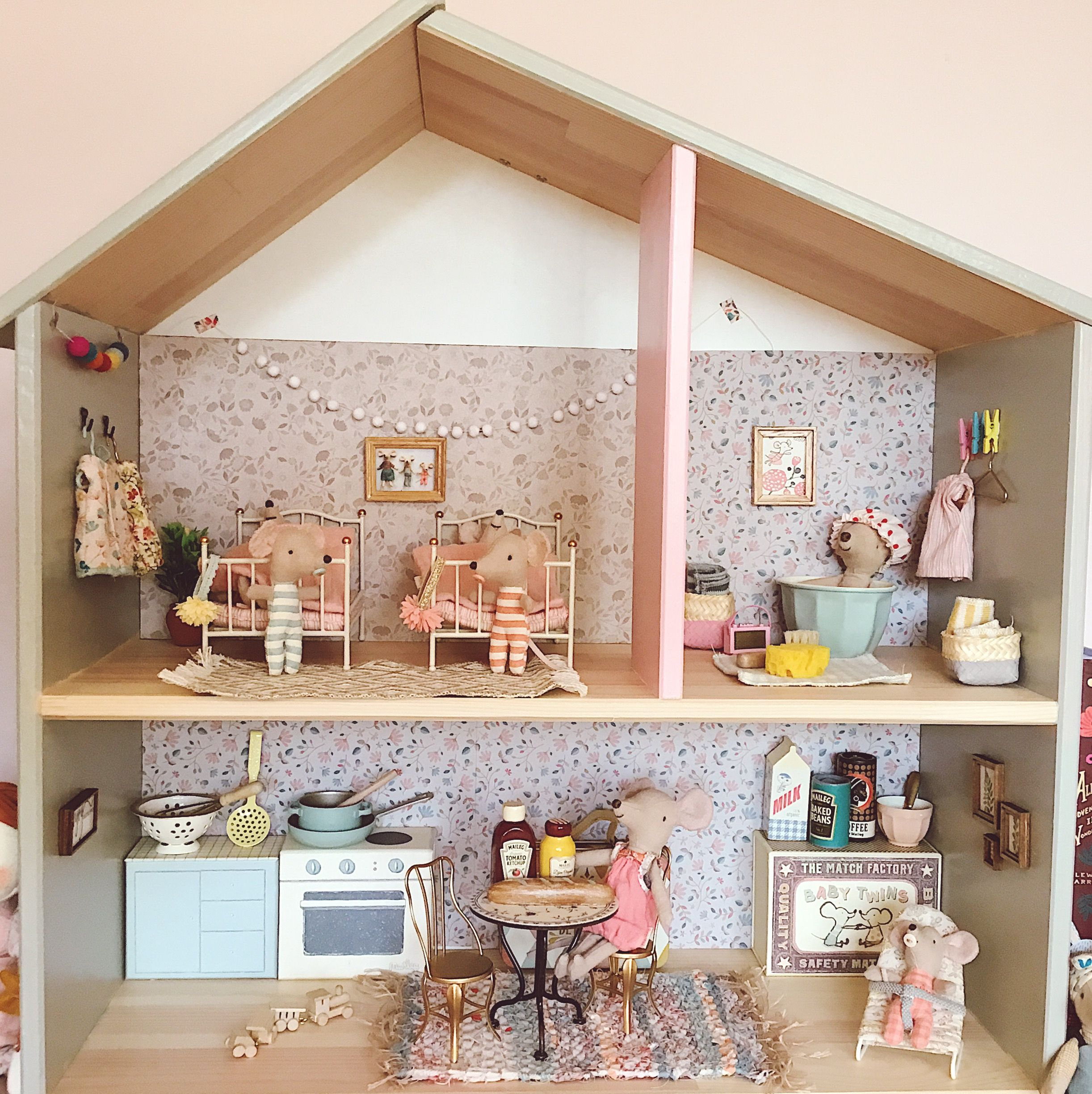 Maileg mouse doll's house hack